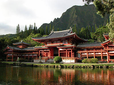 Photograph - Byodo-in Temple, Oahu, Hawaii by Mark Czerniec