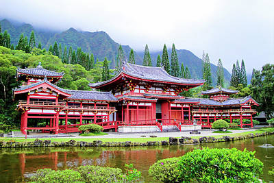 Photograph - Byodo-in Temple Oahu Study 2 by Robert Meyers-Lussier