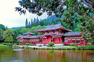Photograph - Byodo-in Temple Oahu Study 4 by Robert Meyers-Lussier
