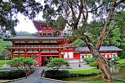 Photograph - Byodo-in Temple Oahu Study 5 by Robert Meyers-Lussier