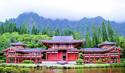 Photograph - Byodo-in Temple Oahu Study 6 by Robert Meyers-Lussier