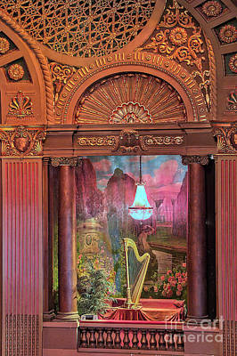 Photograph - Byrd Theater Harp Opera Box by Jemmy Archer