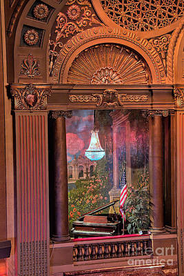Photograph - Byrd Theater Piano Opera Box by Jemmy Archer