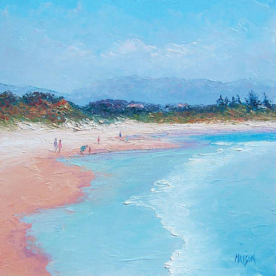 Byron Bay Painting - Byron Bay Beach  by Jan Matson