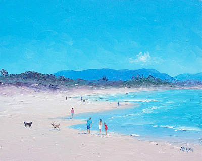 Byron Bay Painting - Byron Bay Beach Morning by Jan Matson
