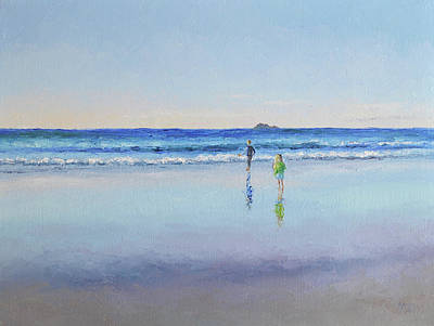 Painting - Byron Bay Dusk by Jan Matson