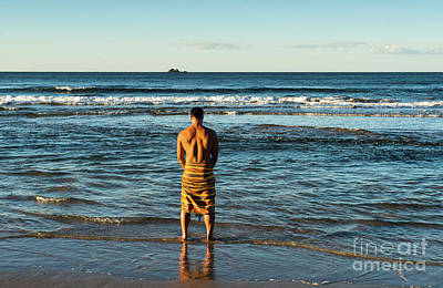 Photograph - Byron Bay Man by Andrew Michael