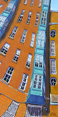 Beacon Hill Painting - Byron Street by Mike Gruber