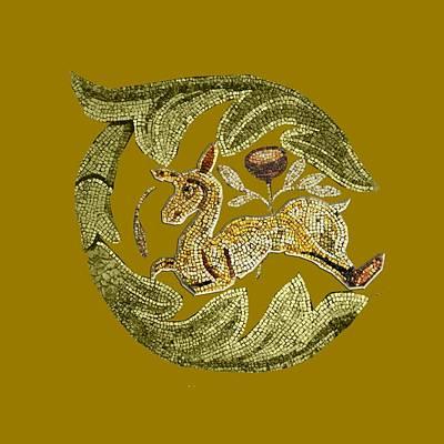 Mixed Media - Byzantine Antelope by Asok Mukhopadhyay