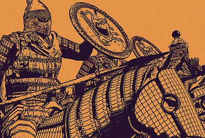 Painting - Byzantine Army - Cataphract by Andrea Mazzocchetti