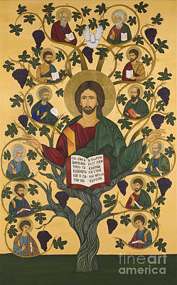 Greek Icon Painting - Byzantine Art Ambelos by Marinella Owens
