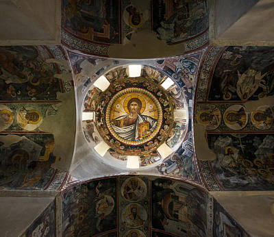 Photograph - Byzantine Church Interior From 10th Century by Radoslav Nedelchev