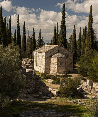Photograph - Byzantine Church by Radoslav Nedelchev
