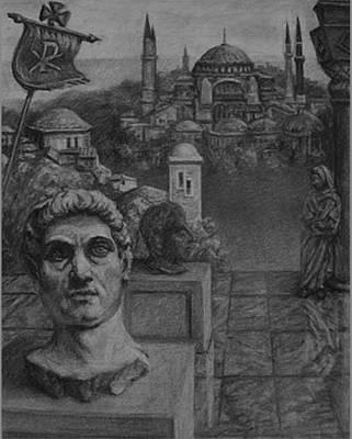 Byzantine Era  Dreaming In History Original by Dennis Earley