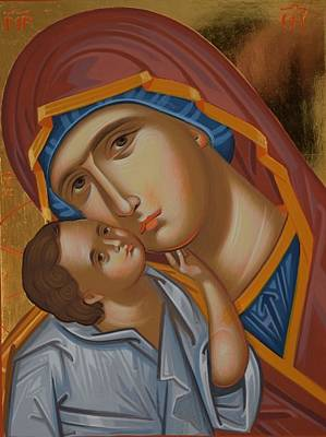 Byzantine Painting - Byzantine Icon- Mother Of God by Filip Gherghisan