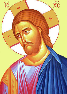 Photograph - Byzantine Jesus Christ by Munir Alawi