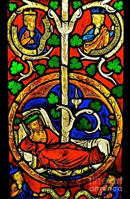 Photograph - Byzantine Stained Glass by Saundra Myles