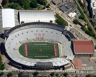 Photograph - C-019 Camp Randall Stadium by Bill Lang