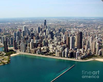 Photograph - C-031 Chicago Lakefront North Of River by Bill Lang