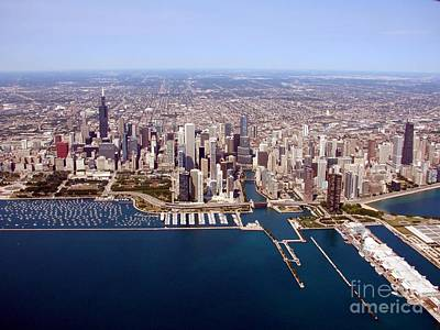 Photograph - C-032 Chicago Lakefront Up River by Bill Lang