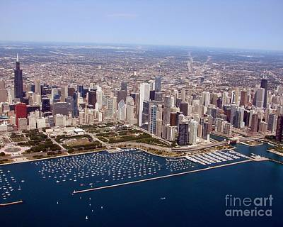 Photograph - C-033 Chicago Lakefront South Of River by Bill Lang