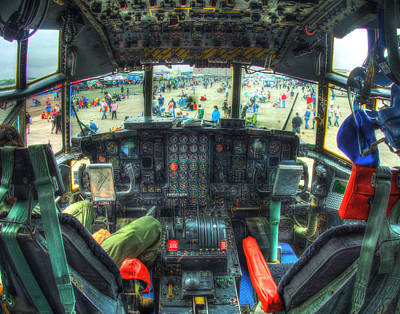 Photograph - C 130 Cocpit 026 by Jeff Stallard