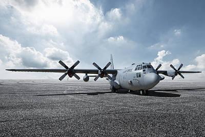 Digital Art - C-130 Hercules by Peter Chilelli