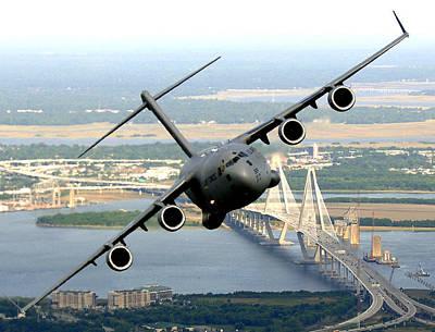 C-17 Charleston Art Print by Aviation Heritage