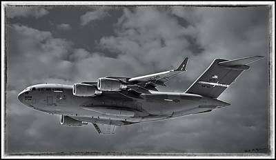 Mark Myhaver Rights Managed Images - C-17 Globemaster III BWF Royalty-Free Image by Mark Myhaver