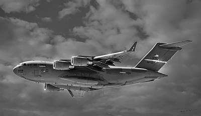 Mark Myhaver Rights Managed Images - C-17 Globemaster III BWS Royalty-Free Image by Mark Myhaver
