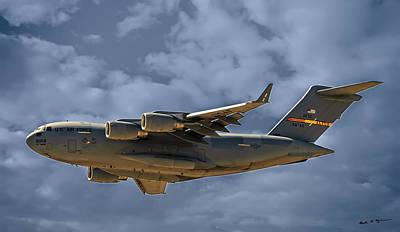 Mark Myhaver Rights Managed Images - C-17 Globemaster III Royalty-Free Image by Mark Myhaver