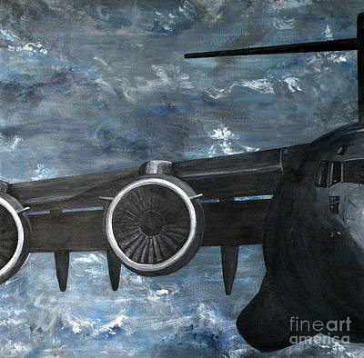 Painting - C-17 Globemaster IIi- Panel 2 by Holly York