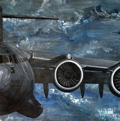Painting - C-17 Globemaster IIi- Panel 3 by Holly York