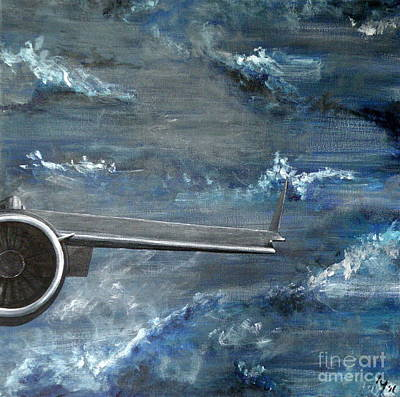 Painting - C-17 Globemaster IIi- Panel 4 by Holly York