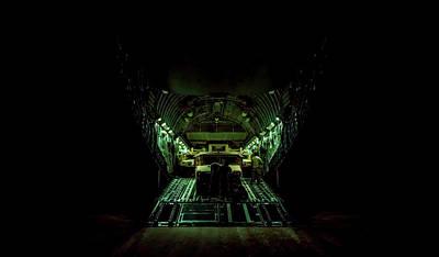 Photograph - C-17 Globemaster - Moving Cargo by U S A F
