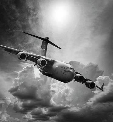 Photograph - C-17 Globemaster by Phil Rispin