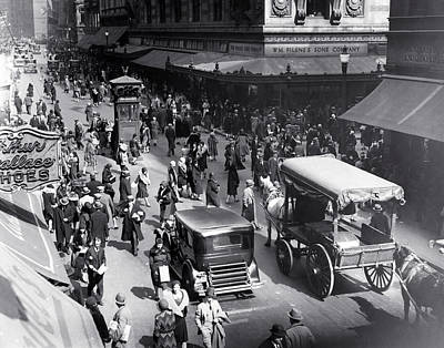 Photograph - C. 1925 Downtown Crossing Boston by Historic Image