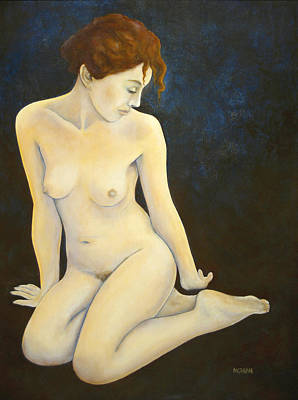 Nude Painting - C-3 by Tom Morgan