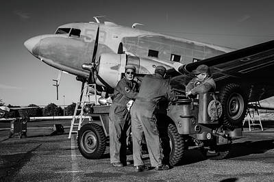 Photograph - C-47 Ground Crew by Michael McAuliffe