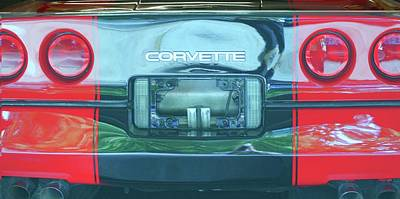 Other Automobiles Photograph - C-6 A Corvette''s Rear by Rosemarie E Seppala