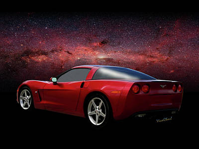 Abstract Stripe Patterns Rights Managed Images - C-6 Corvette and the Cosmos Royalty-Free Image by Chas Sinklier