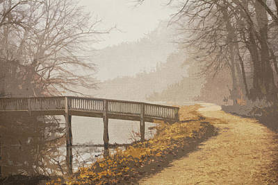 C And O Canal On Foggy Morning Art Print by Francis Sullivan