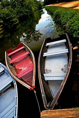 C And O Canal With Rowboats Art Print