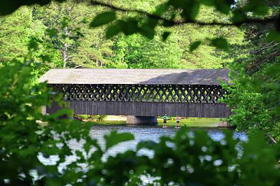 Photograph - Paddle Boarding The Bridge by David Lee Thompson
