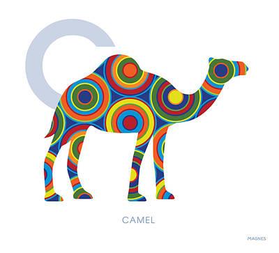 Camel Digital Art - C Is For Camel by Ron Magnes
