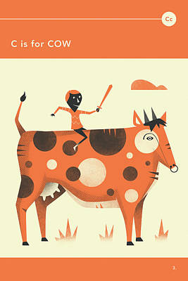 C Is For Cow Art Print