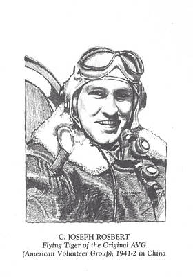 C J Rosbert Avg Flying Tiger  Art Print