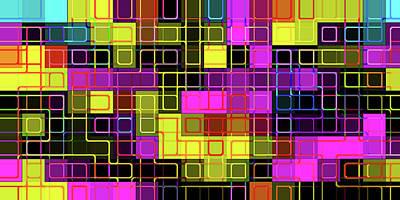 Digital Art - C M Y K -grid- by Coded Images