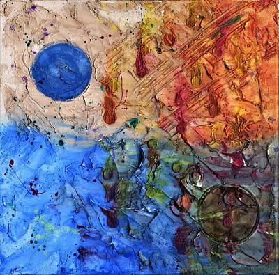 Painting - C Moon by Phil Strang