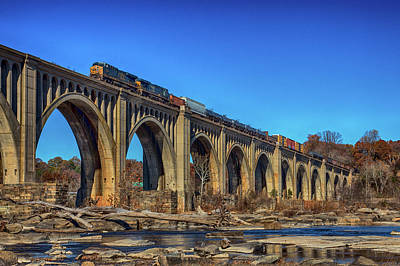 Wall Art - Photograph - C S X Train Q301 by Cliff Middlebrook